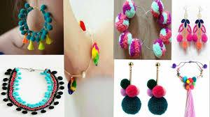 handmade necklace design images Diy pom pom jewellery latest pom pom handmade jewellery designs jpg