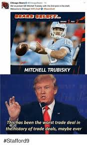 Chicago Bears Memes - chicago bears 1h we ve picked qb mitchell trubisky with the 2nd