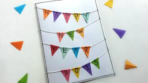 new year s cards create a triangle banner new years card diy crafts