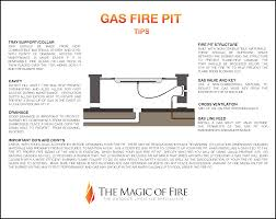 How To Make Firepit by Tips On How To Build A Gas Fire Pit The Magic Of Fire
