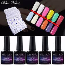blue font b velvet b font sunlight color change gel varnish with 10pcs font b nail jpg