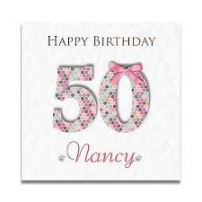 handmade personalised ladies special friend 30th 40th 50th 60th