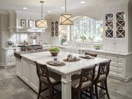 Size Of Kitchen Island With Seating Kitchen Pretty Modern Kitchen Island Designs With Seating 11