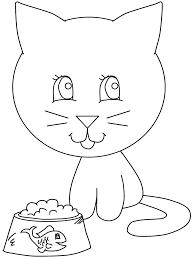 imágenes de gatos fáciles para dibujar el gatito va a comer aprende feliz