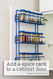 how to remove ikea kitchen cabinet doors how to add a spice rack to an ikea cabinet door simple