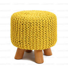 yellow ottomans and footstools ebay