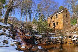 Arkansas landscapes images The old mill in winter arkansas north little rock photograph jpg