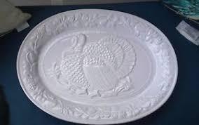 turkey platters thanksgiving gibson white embossed ceramic thanksgiving turkey platter