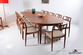 large dining table by henning kjaernulf room of art