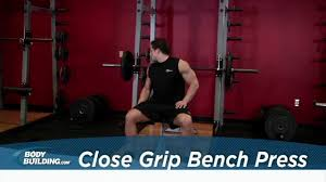 Tricep Close Grip Bench Press Close Grip Bench Press Tricep Chest Exercise Bodybuilding