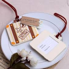 wedding luggage tags bon voyage luggage tags wedding favors bridal shower party favors