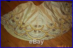 gold tree skirt seybert ivory gold silver beaded tree skirt christmas