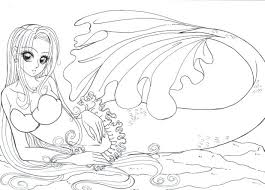 coloring pages printable mermaid coloring pages free