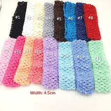crochet headband tutu 12pcs assorted 6colors crochet hairband elastic band newborn tutu