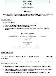 Job Description Of Bartender For Resume by Sample Bartending Resumes Resume For Your Job Application