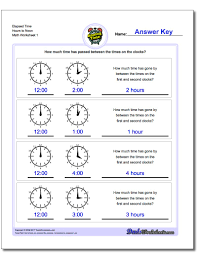 What Time Is It Worksheet Analog Elapsed Time