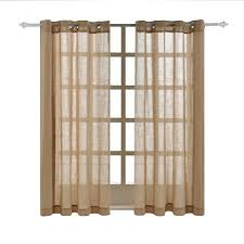 burlap curtains amazon com