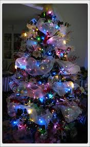 collection trees with colored lights decorating ideas