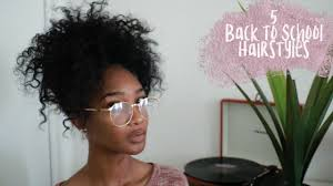 hair styles for back of natural hair 5 easy back to school hairstyles back to school