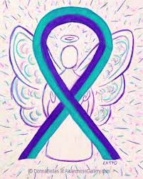 teal ribbon purple and teal awareness ribbon meaning and gifts awareness