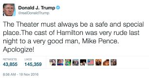 Hamilton Memes - trump s response to hamilton cast statement hamilton know your