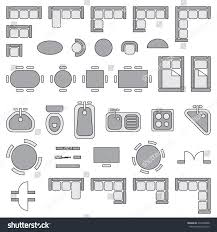 Architectural Electrical Symbols For Floor Plans by Royalty Free Standard Furniture Symbols Used In U2026 274308068 Stock