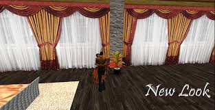 second life marketplace burgandy and gold drapes with sheer