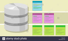 Data Table Design Data Table Query Database Index Symbol Vector Illustration Concept