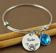 personalized bangle paw print personalized bangle bracelet at sweet blossom gifts