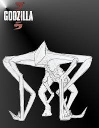 godzilla 2014 mutos by godzilla vs muto 2014 coloring pages in