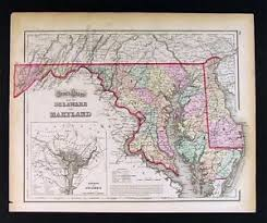 map of maryland delaware and new jersey 1874 gray map maryland delaware washington dc new jersey york