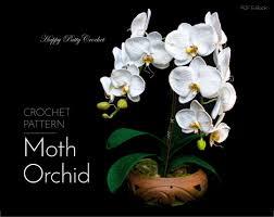 crochet orchid pattern crochet pattern for home decor u0026