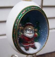 ornament santa claus real duck egg shell by eggshells