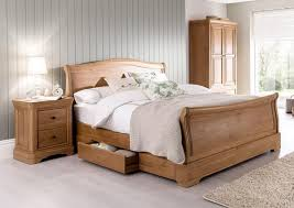 Pine Sleigh Bed Frame Vida Living Solid Oak 5ft Sleigh Bed Pine Oak And Other