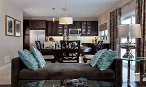 awesome kitchen family room open concept home design very nice