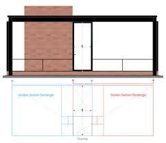 Glass House Floor Plan Philip Johnson U0027s Glass House Golden Section Analysis On Behance