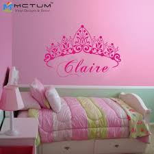 tickers chambre fille princesse bébé fille couronne stickers muraux princesse nom nursery sticker