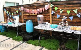 Backyard Birthday Ideas Entertaining With Style First Birthday Mustache Bash Blue I Style