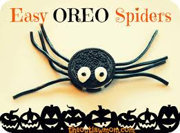 halloween treats easy oreo spiders the outlaw mom blog