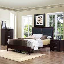 homelegance edina upholstered headboard platform bed in espresso availability in stock