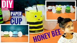 diy paper cup craft ideas for kids bee craft art youtube