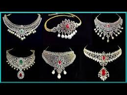 diamond necklace sets images Bridal latest diamond jewellery diamond choker necklace sets jpg