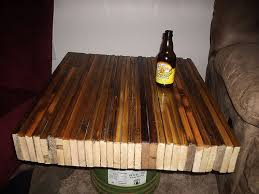 wood butcher block table recycled fence butcher block style table