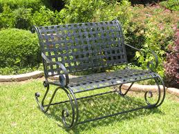 Iron Rocking Patio Chairs Small Garden Benches Wrought Iron Bench Decoration