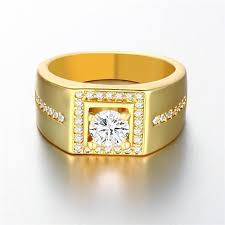 men gold ring design 2018 2015 new design 18k gold plated swiss cz diamond ring