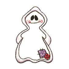halloween costume spirit id 0878 bashful ghost patch halloween costume spirit embroidered