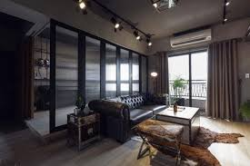 industrial apartments apartment dark apartment with industrial interior with tufted