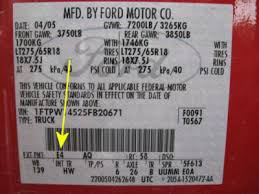 factory paint codes