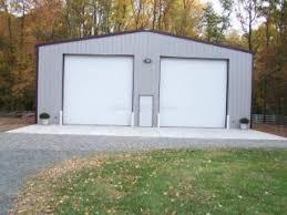 building a 2 car garage steel two car garage in midland va customer testimonial