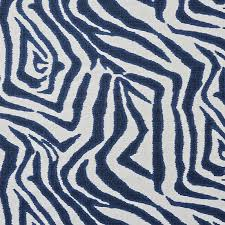 fabric by the yard printed zebra ikat blue williams sonoma